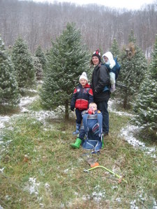 Family with their tree